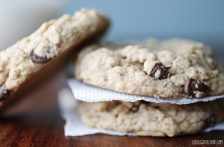 Oatmeal Chocolate Chip Cookies from Collegiate Cook